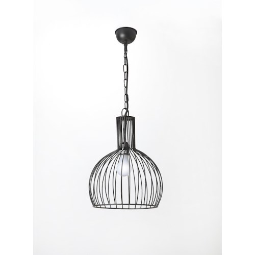 Butler Specialty Company Hors D'oeuvres Black Iron 1 Light Pendant