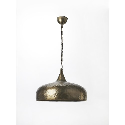 Butler Specialty Company Hors D'oeuvres Hammered Antique Brass 1 Light Pendant