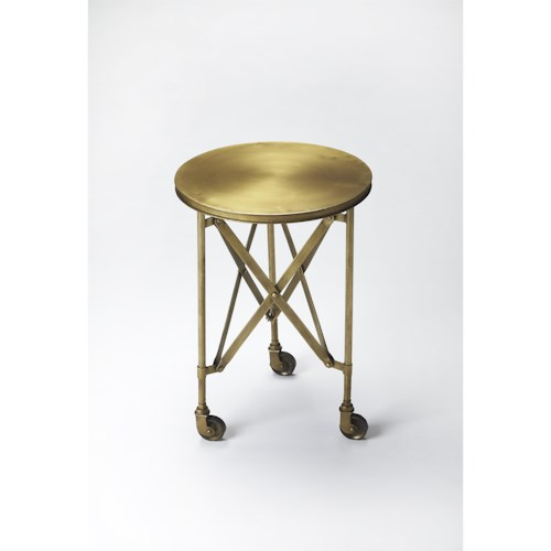 Butler Specialty Company Industrial Chic Costigan Antique Gold Accent Table