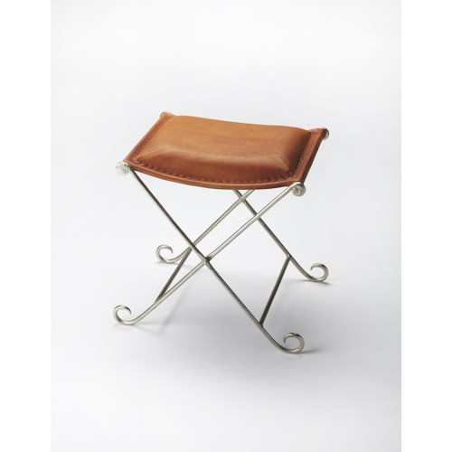 Butler Specialty Company Industrial Chic Leather Stool