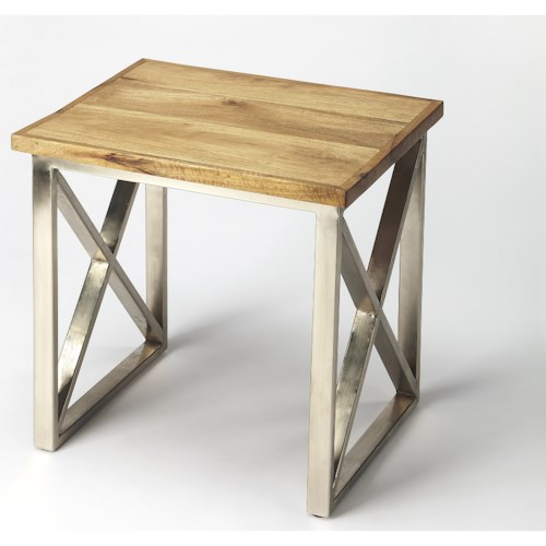 Butler Specialty Company Industrial Chic Laudan Industrial Chic End Table