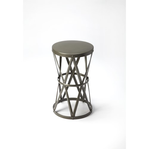 Butler Specialty Company Industrial Chic Empire Round Iron Accent Table