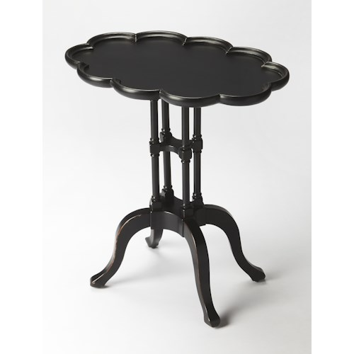 Butler Specialty Company Masterpiece  Lloyd Black Licorice Oval Accent Table