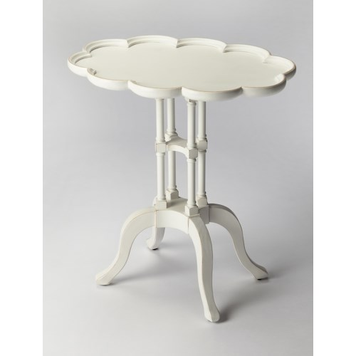 Butler Specialty Company Masterpiece  Lloyd Cottage White Oval Accent Table