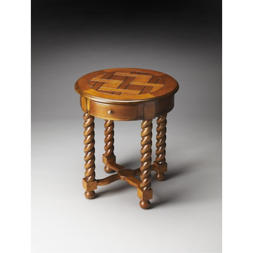 Butler Specialty Company Masterpiece  Brockton Vintage Oak Round Accent Table