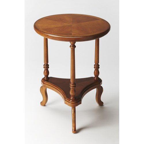 Butler Specialty Company Masterpiece  Petry Olive Ash Burl Accent Table