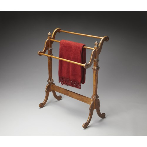Butler Specialty Company Masterpiece  Newhouse Vintage Oak Blanket Stand