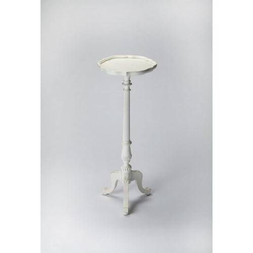 Butler Specialty Company Masterpiece  Chatswoth Cottage White Pedestal Plant Stand