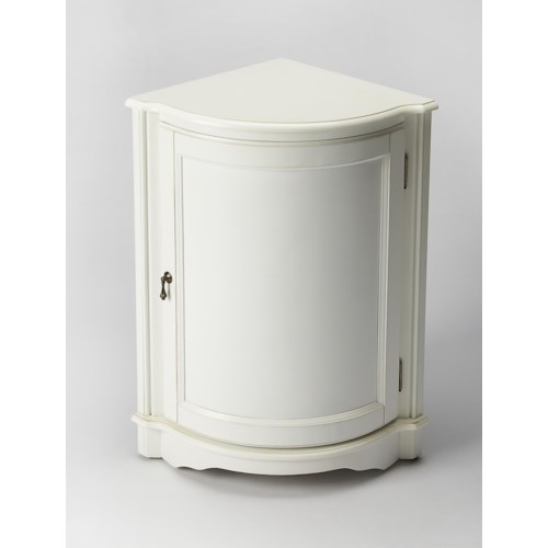 Butler Specialty Company Masterpiece  Durham Cottage White Corner Cabinet