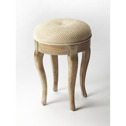 Butler Specialty Company Masterpiece  Simone Driftwood Vanity Stool