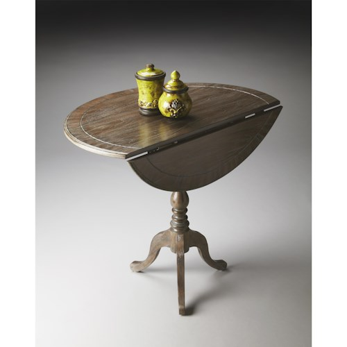 Butler Specialty Company Masterpiece  Theodore Dusty Trail Drop-Leaf Hall Table