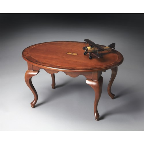 Butler Specialty Company Masterpiece  Oval Cocktail Table