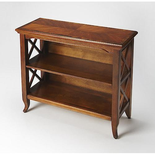 Butler Specialty Company Masterpiece  Newport Olive Ash Burl Low Bookcase