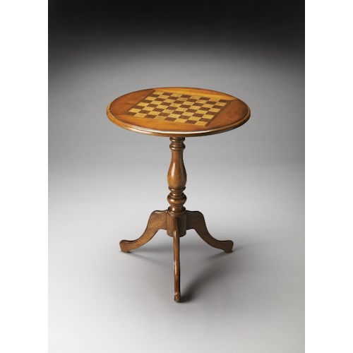 Butler Specialty Company Masterpiece  Olive Ash Burl Game Table