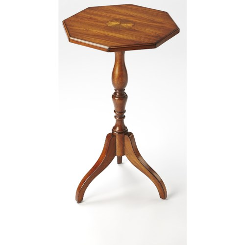 Butler Specialty Company Masterpiece  Archambault Antique Cherry Octagonal Pedestal Table
