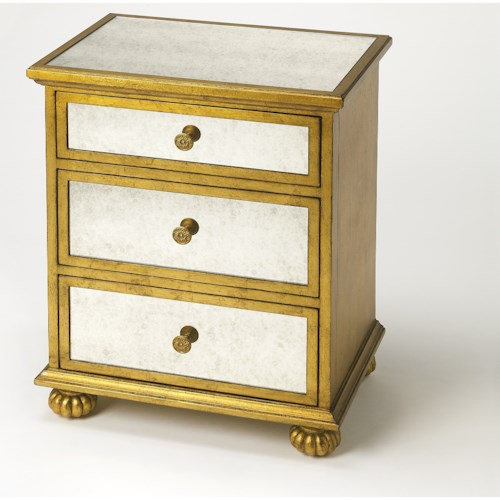 Butler Specialty Company Masterpiece Grable Gold Leaf Accent Chest