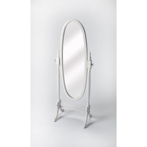 Butler Specialty Company Masterpiece  Cottage White Cheval Mirror