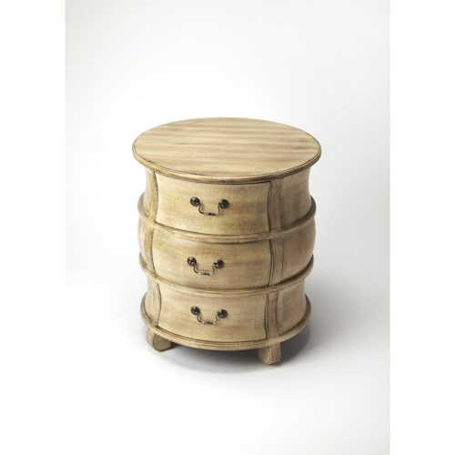 Butler Specialty Company Masterpiece  Bentley Driftwood Barrel Table