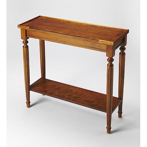 Butler Specialty Company Masterpiece  Aubrey Olive Ash Burl Console Table