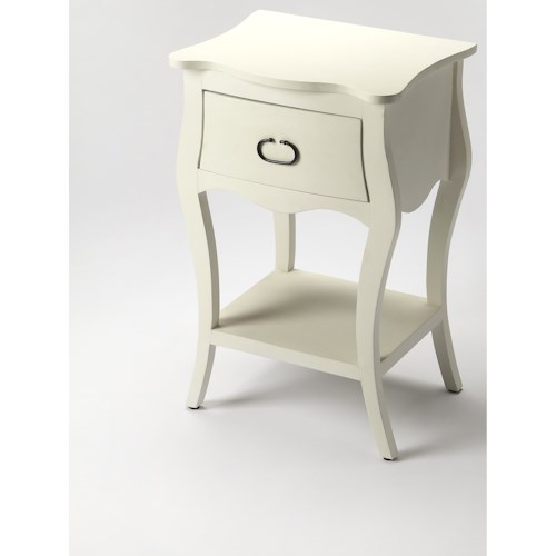 Butler Specialty Company Masterpiece Rochelle Off White Nightstand