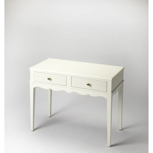 Butler Specialty Company Masterpiece Marisol Cottage White Console Table