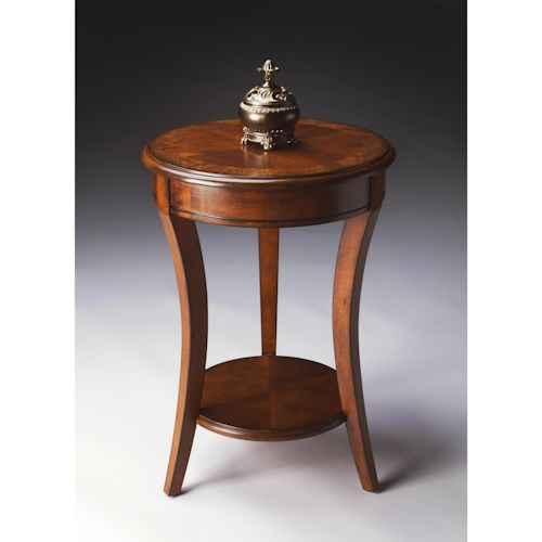 Butler Specialty Company Masterpiece  Holden Olive Ash Burl Accent Table