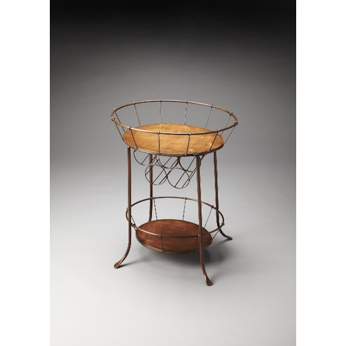 Butler Specialty Company Metalworks Wine Storage Table