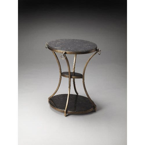 Butler Specialty Company Metalworks Oval Accent Table