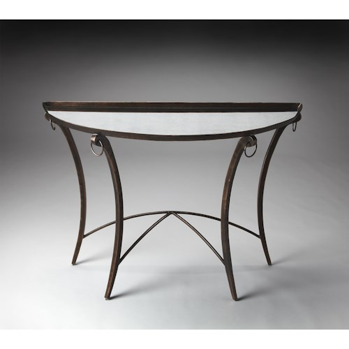 Butler Specialty Company Metalworks Demilune Console Table