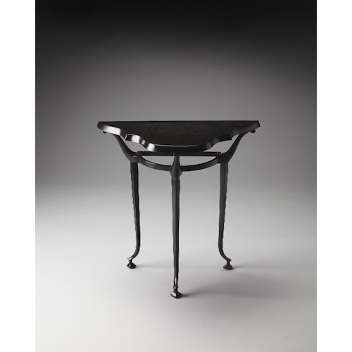 Butler Specialty Company Metalworks Halliwell Metal Demilune Console Table