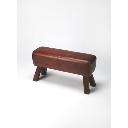 Butler Specialty Company Mountain Lodge Masterson Brown Leather Bench