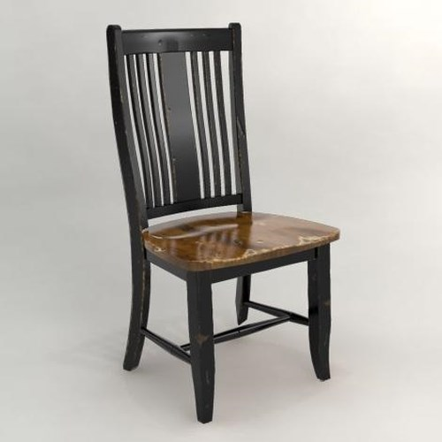 Canadel Champlain - Custom Dining Side Chair with Slat Back