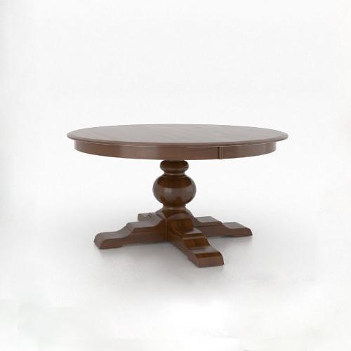 Canadel Custom Dining - Customized Round Pedestal Table