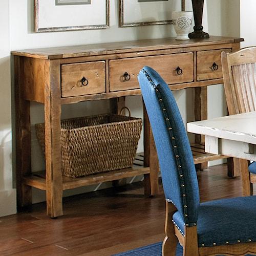 Canadel Champlain - Custom Dining Customizable Buffet with 3 Glass Doors & Slat Shelf
