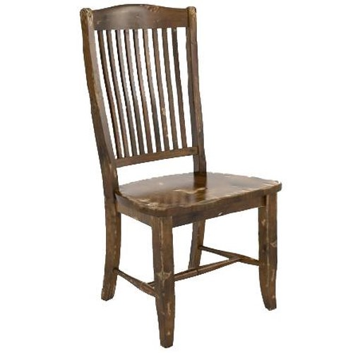 Canadel Champlain - Custom Dining Customizable Side Chair with Slat Back
