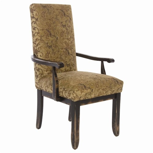 Canadel Champlain - Custom Dining Customizable Upholstered Dining Arm Chair
