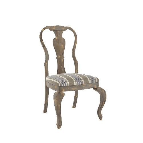 Canadel Champlain - Custom Dining Customizable Side Chair with Splat Back and Cabriole Legs