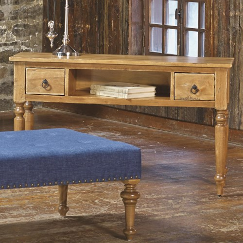 Canadel Champlain - Living Customizable Sofa Table with 2 Drawers & Shelf