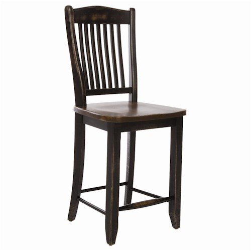 Canadel Champlain - Custom Dining Customizable Slat Back Bar Stool