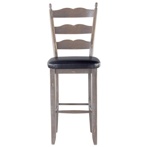 Canadel Champlain - Custom Dining Customizable Sculpted Ladderback Bar Stool