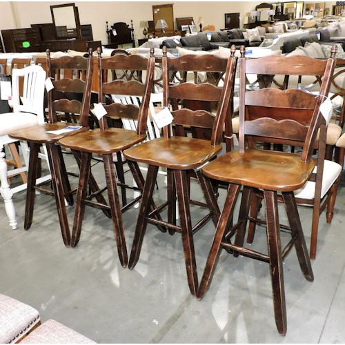 Canadel Clearance A Set of 4 Solid Wood Stools
