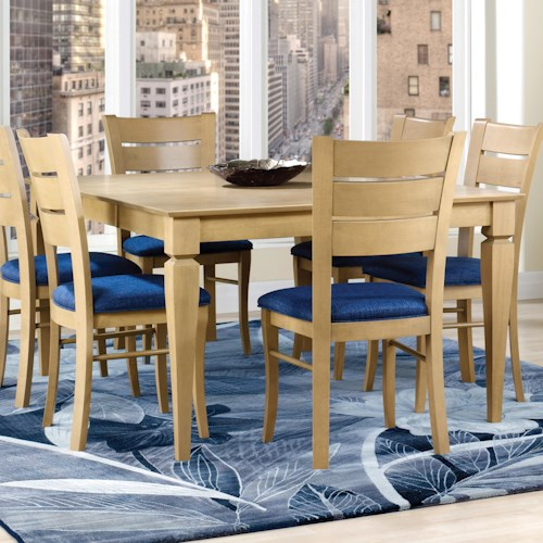 Canadel Custom Dining Customizable Square Table with Legs and Leaf
