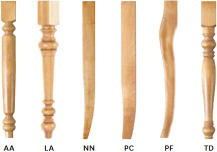 Chair Leg Options Available for 5045 Chair