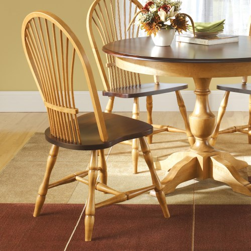 Canadel Custom Dining Customizable Windsor Side Chair