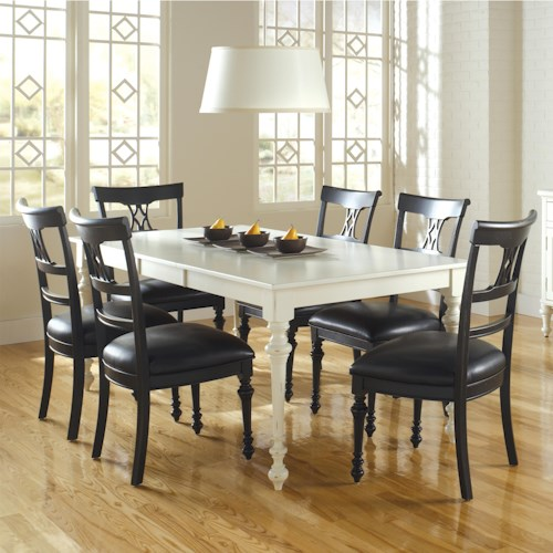 Canadel Custom Dining Customizable Rectangular Table with Leaf Set
