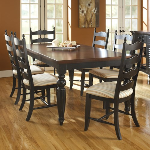 Canadel Custom Dining Customizable Rectangular Table Set with 6 Chairs