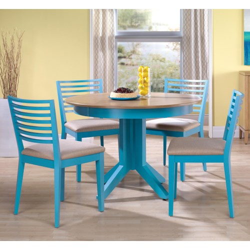 Canadel Custom Dining Customizable Round Table Set with Pedestal