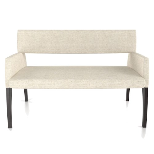 Canadel Custom Dining Customizable Modern Upholstered Bench