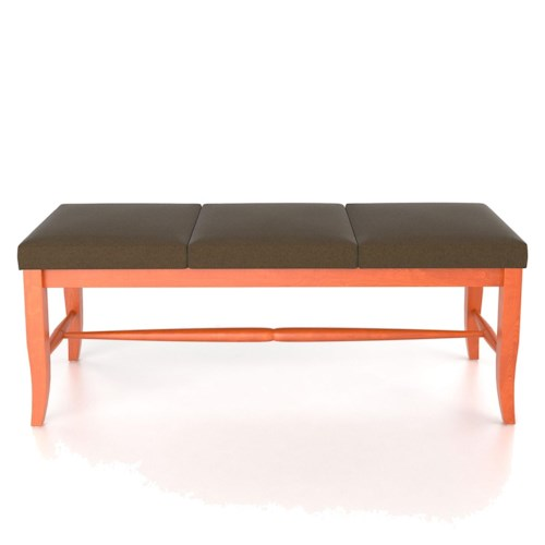 Canadel Custom Dining Customizable 3 Seat Upholstered Bench, 18
