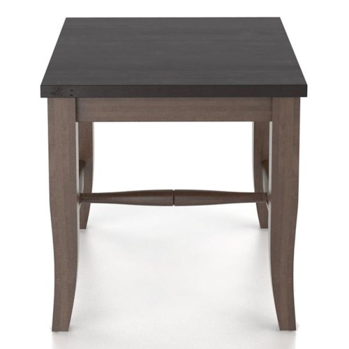 Canadel Custom Dining Customizable Wooden Seat Bench, 18